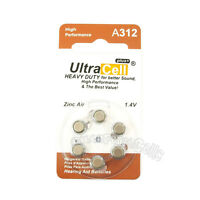 120 x Zinc Air Hearing Aid Battery 312 A312 PR41 7002ZD 312A B347PA AC312 ME7Z
