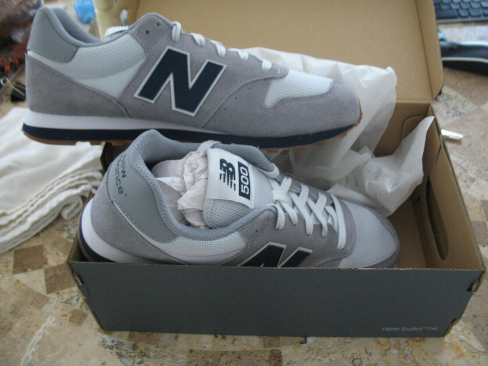 Size 10 - New Balance 500 Classic Gray Blue for sale online | eBay