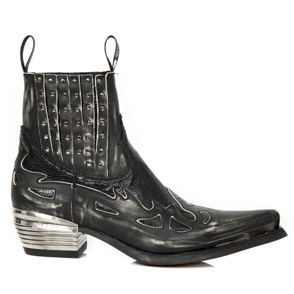 New Rock NR M.WST047 S2 Black - Boots, West, Men