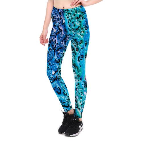 Women leggings Ocean phenocryst design  printed  S-4XL slim legging fitness 3912