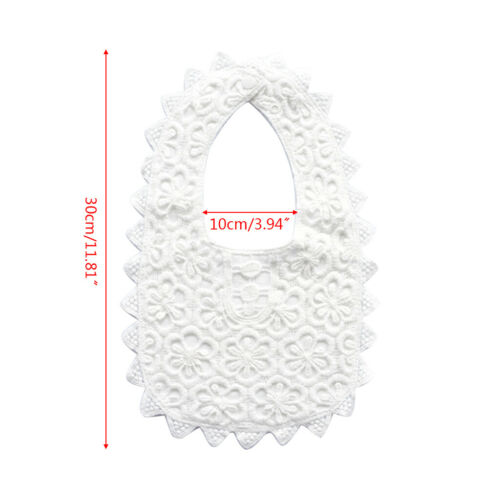 Baby Bibs with Lace Rotatable 360 Degree Cotton Fake Collar Scarf Saliva Towel