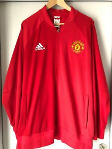 Details zu Manchester United Trainingsjacke Rot Adidas Gr. XL
