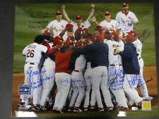 (8) 2006 St. Louis Cardinals Multi-Signed 16x20 Photo Pujols Auto MLB TriStar
