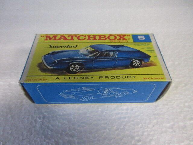 cómodo Vintage Matchbox Lotus Europa Europa Europa  5  Entrega directa y rápida de fábrica