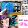 21 Design Set Nail Art Manicure Smalto Immagine Timbratura Guida Placca