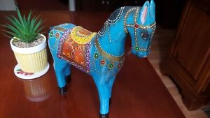 Hand-Carved-and-Painted-Wooden-Horse