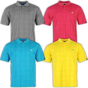 Dunlop-Uomo-Golf-Polo-Maglietta-collo-a-polo-camicia-a-quadri-Casual-S-XXL-NUOVO