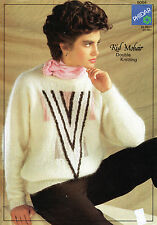 ~ PHILDAR Knitting pattern per LADY'S BELLISSIMO Maglione mohair ~