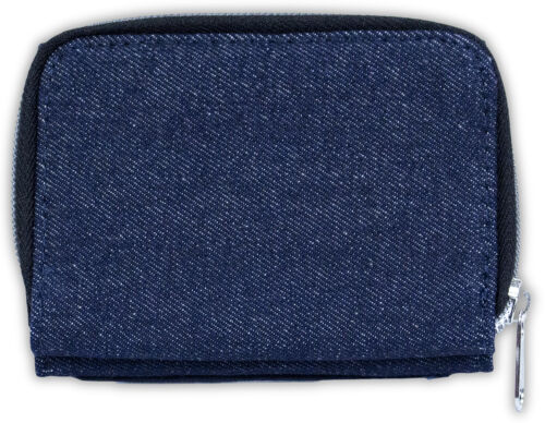 MG-11JW British Blue Cat /'Morning Gorgeous/' Girls//Ladies Denim Purse Wallet Chr