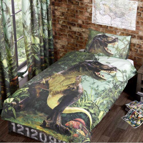 T-Rex Dinosaure Set Housse de Couette Simple Literie