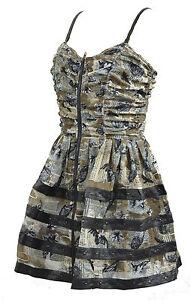 Twilight-Dress-Owl-Bats-Zipper-Dress-Steampunk-Black-Khaki