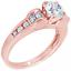 2Ctw-Redondo-amp-Corte-Baguette-Certificado-de-GIA-Anillo-de-Compromiso-Diamante miniatura 4