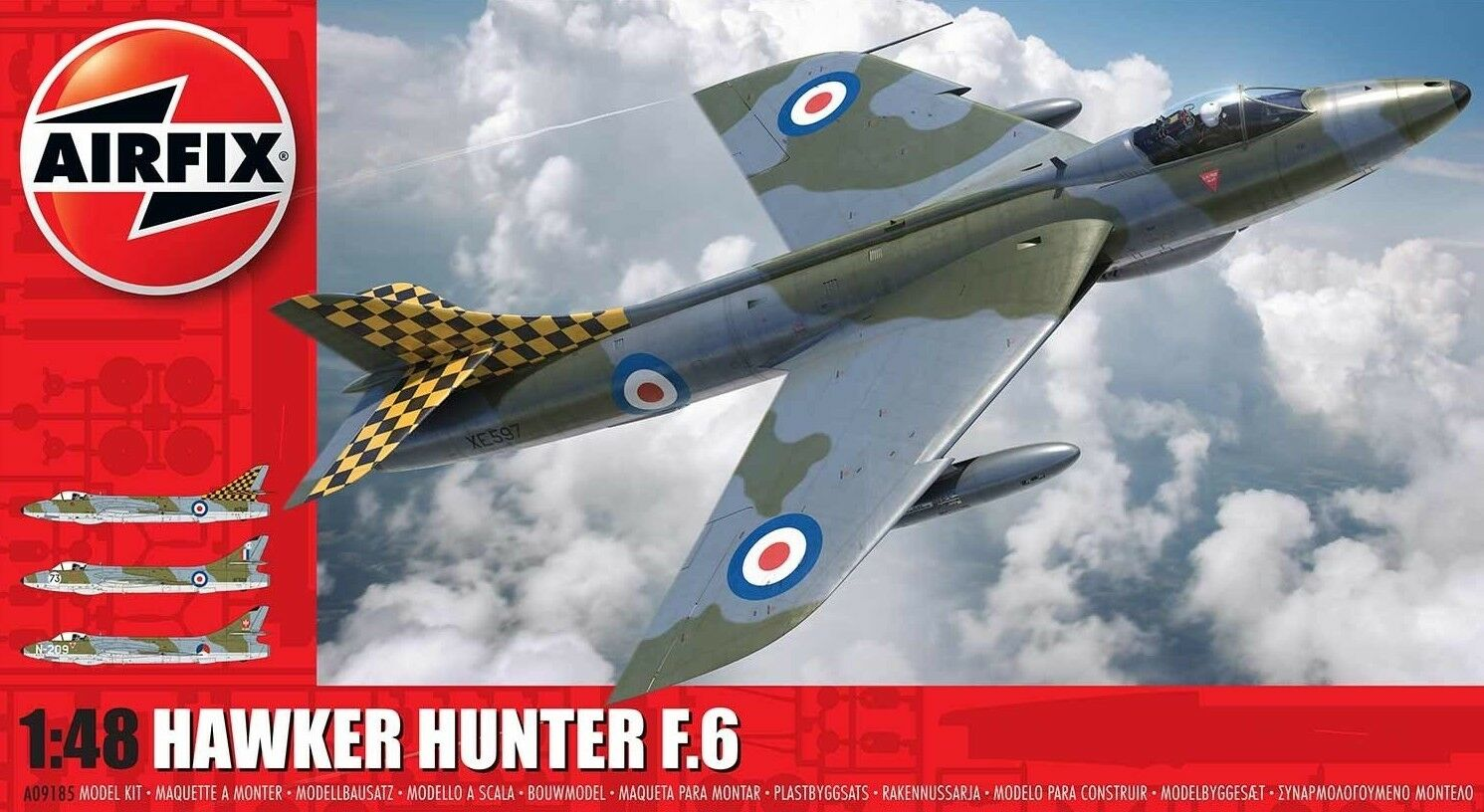 Airfix 1 48 Hawker Hunter F.6 (New Tool) A09185