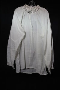 NWT THE TUDORS COLLECTION, White Nightshirt, 100% Cotton, Size L/XL-B28