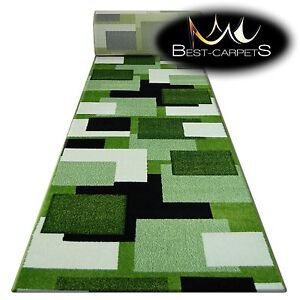 CHEMIN-DE-TABLE-Tapis-Pilly-8404-herbe-creme-moderne-Escaliers-largeur