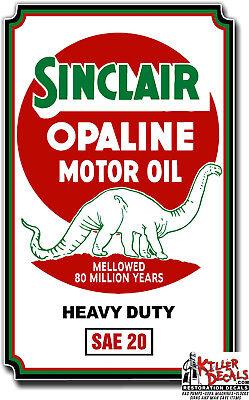 "SINC-10R 10/"" SINCLAIR RUSTY OPALINE LUBSTER OIL CAN GASOLINE GAS DECAL"