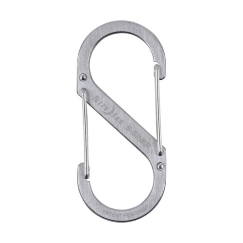 Nite Ize S-Biner Stainless Steel #4 Brushed Dual-Gated Carabiner Tool 75lb-Rated