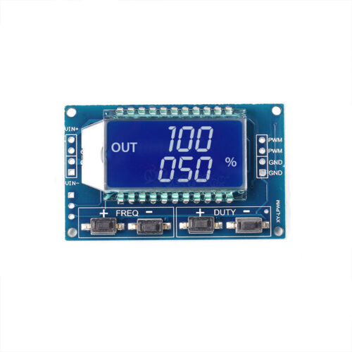 1x Signal Generator PWM Pulse Frequency Duty Cycle Adjustable Module LCD Display