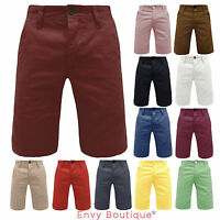NEW MENS COTTON SUMMER CHINO SHORTS COMBAT SIZE 28 30 32 34 36