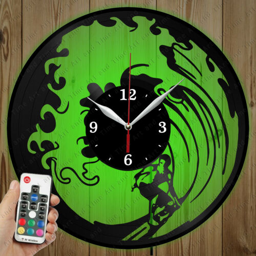 Details about  /LED Vinyl Clock Surfing LED Wall Decor Art Clock Original Gift 1341