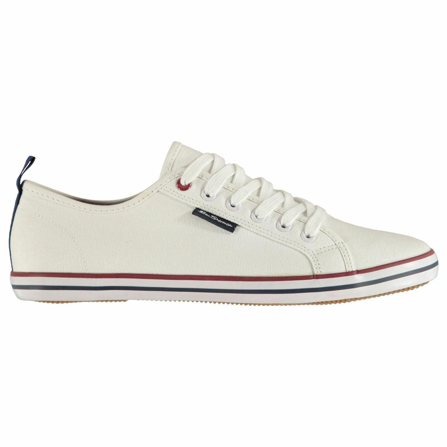 Mens Ben Sherman Lestar Canvas shoes Low Textured New