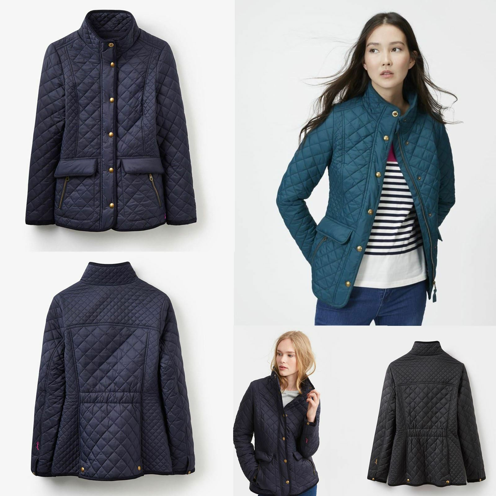 Joules Giacca trapuntata newdale Donna Classic Fit Equestre caldo paese Fashion