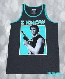 STAR Wars movie HAN SOLO Chewbacca New MEN/'S Tank TOP Sleeveless beach T-Shirt