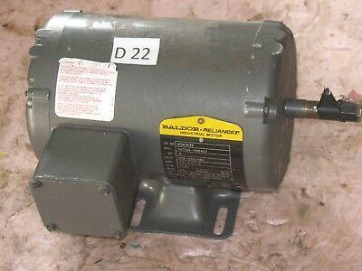 BALDOR ELECTRIC MOTOR  1//2 HP 1140 RPM  208-230//460 V 3 Ph AOM3539 M3539