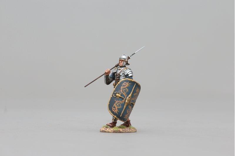 THOMAS GUNN ROM103A - Roman Guardsman (Painted Shield) Painted Metal Figure
