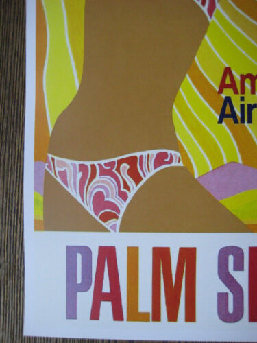 """11/"""" x 17/"""" Collector/'s Travel Poster Print American Airlines PALM SPRINGS"""