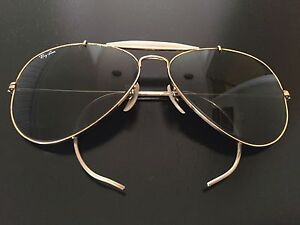 10a94a2baca VINTAGE BAUSCH   LOMB RAY BAN RB3 TRUGREEN LENS OUTDOORSMAN AVIATOR ...