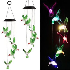 Color-Changing-LED-Solar-Powered-Hummingbird-Wind-Chime-Lights-Yard-Garden-Decor