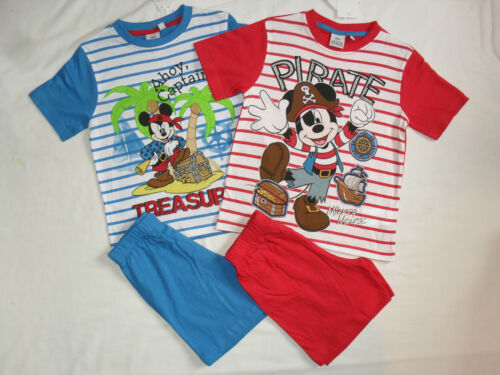 BNWT disney mickey mouse pirate themed summer short pyjamas.3-4 or 5-6yrs.