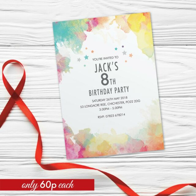 9th 10th 11th Birthday Party Invitations For Girls Boys Cards Invites X10 WCF 03