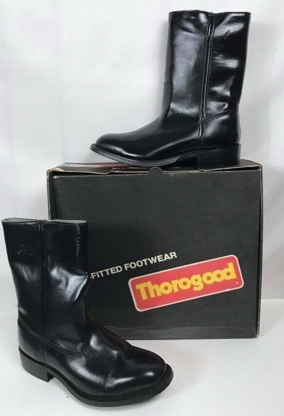 articoli promozionali Thorogood 1843 nero Leather Safety-Toe Slip-on Dimensione 7 EEE EEE EEE  - READ DESCRIPTION  nuovo sadico