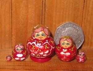 Russian-Nesting-Doll-Matryoshka-Babushka-5-tiny-Matriochka-Miniature-House-DHM