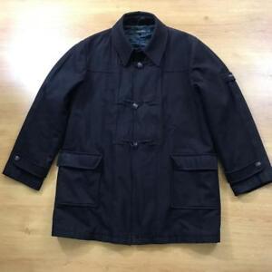 Hope-And-Glory-Size-3-L-Dark-Blue-Navy-Wool-Blend-Overcoat-Duffle-Coat-Terrace