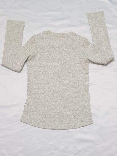 RRP £55 Grey Lacoste Junior Girls Long Sleeve T-Shirt Kids Cotton Tops Tee