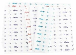 """Blue, Red, and Purple eBay-Branded Tissue Paper Multi-Pack 20"""" x 30"""""""