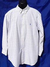 """POLO RALF LAUREN 'Classic Fit' Button Down Oxford Shirt Large Size 48"""" Chest"""