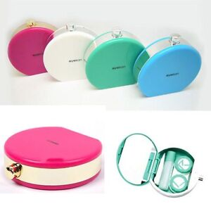 Men's Glasses Responsible New Easy Carry Mini Pocket Contact Lens Cases With Mirror Kit Travel Convenient Contact Lens Case Container For Outdoor