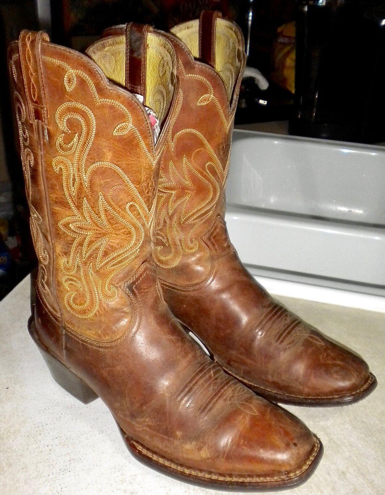 Mujeres 9 B Marrón Ariat Rebel dedo del pie cuadrado leyenda Western botas
