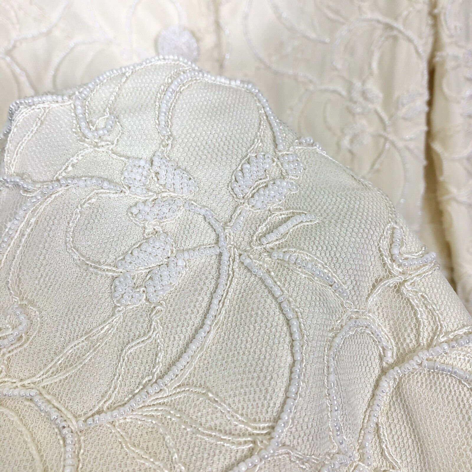 Marie St Claire Long Jacket Vintage Sz 12 Pearl B… - image 4