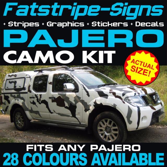 Mitsubishi pajero camo graphics stripes decals stickers v20 v60 4x4 v6 off road