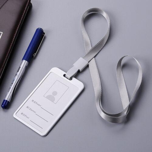 Aluminum Alloy Business Work Card ID Badge Lanyard Holder Vertical Metal