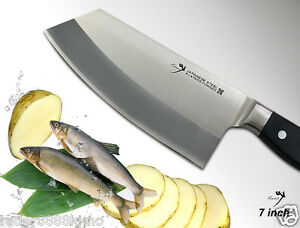 japanese steel chef 39 s all purpose cleaver 7 inch full tang vegetable knife ebay. Black Bedroom Furniture Sets. Home Design Ideas