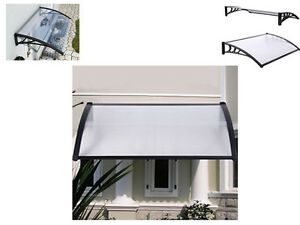 New Black Outdoor Canopy Awning Shelter Front Back Porch Patio Rain Uv Protected Ebay