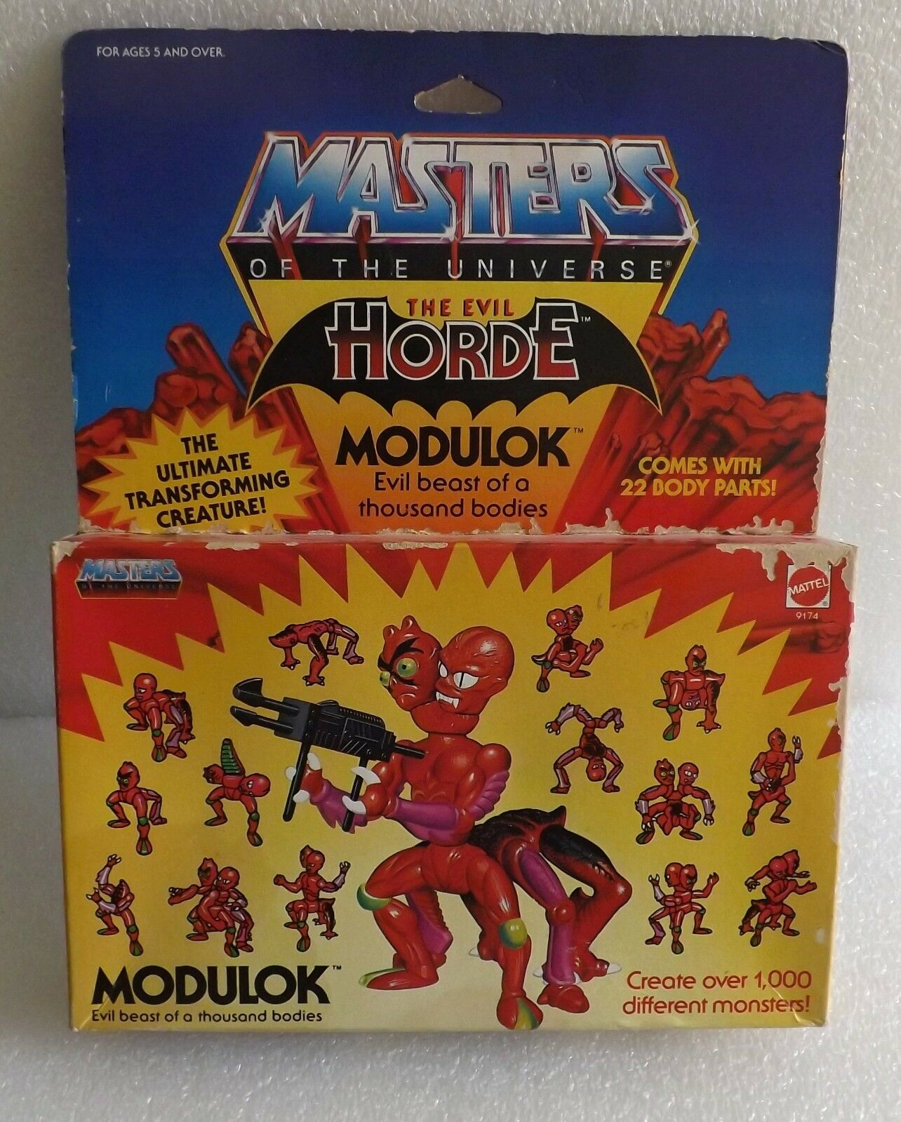 NEW IN BOX 1985 HE-MAN MASTERS OF THE UNIVERSE MOTU EVIL HORDE MODULOK SEALED