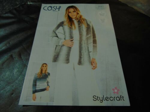 Stylecraft Cosy Chunky Pattern 9561 32//34-48//50 in 2 Easy Knit Designs