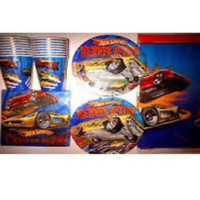 HOT WHEELS - Birthday Party Supply Kit Pack w/ Balloons